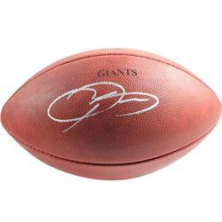 """Odell Beckham Jr. Signed """"The Duke"""" Custom Engraved Official NFL Game Ball (Steiner COA)"""