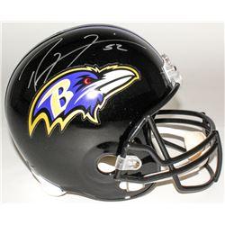 Ray Lewis Signed Ravens Full-Size Helmet (Radtke COA)