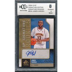 2009-10 SP Signature Edition Signature Rookies #RHA James Harden #026/199 (BCCG 8)