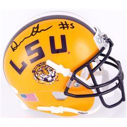 Derrius Guice Signed LSU Tigers Mini Helmet (JSA COA)
