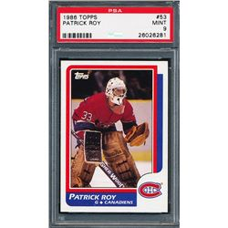 1986-87 Topps #53 Patrick Roy RC (PSA 9)