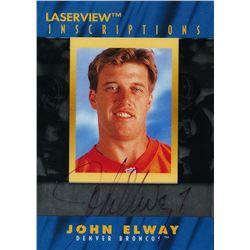 1996 Laser View Inscriptions #6 John Elway #2250/3100