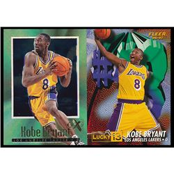 Lot of (2) Kobe Bryant Rookie Cards with 1996-97 E-X2000 #30 RC  1996-97 Fleer Lucky 13 #13