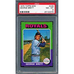 1975 Topps Mini #228 George Brett RC (PSA 8)