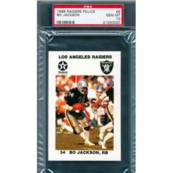 1988 Raiders Police #9 Bo Jackson (PSA 10)