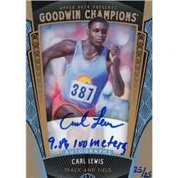 2015 Upper Deck Goodwin Champions Autographs Inscribed #ACL Carl Lewis / 9.86 100 meters #25/25