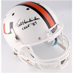 "Ted Hendricks Signed Miami Hurricanes Full-Size Helmet Inscribed ""CHOF '87"" (JSA COA)"