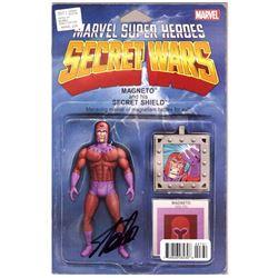 """Stan Lee Signed """"Secret Wars"""" Magneto Action Figure (Lee COA)"""