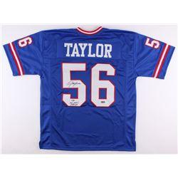 "Lawrence Taylor Signed Giants Jersey Inscribed ""SB XXI XXV Champs"" (Radtke Hologram)"