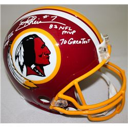 """Joe Theismann Signed Redskins Full-Size Authentic On-Field Helmet Inscribed """"SB XVII Champs,"""" """"83 NF"""