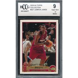 2003-04 Topps Collection #221 LeBron James RC (BCCG 9)