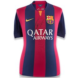 """Lionel Messi Signed Barcelona Jersey Inscribed """"Leo"""" (Icons COA)"""