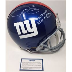 """Odell Beckham Jr. Signed Giants Full-Size Authentic On-Field Helmet Inscribed """"NYG Rookie Record  """"1"""