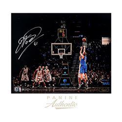 """Dirk Nowitzki Signed Mavericks """"7th All Time"""" 16x20 Photo LE of 41 (Panini COA)"""