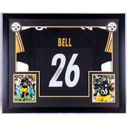 Le'Veon Bell Signed Steelers 35.5x43.5 Custom Framed Jersey Display (JSA COA)