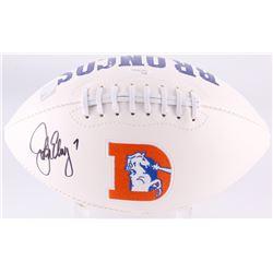 John Elway Signed Broncos Logo Football (JSA COA  Elway Hologram)