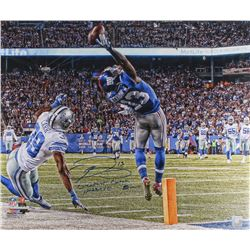 """Odell Beckham Jr. Signed LE Giants """"The Catch"""" 20x24 Photo Inscribed """"Greatest Catch Ever""""  """"11-23-1"""