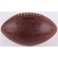 1970 Steelers NFL Football Team-Signed by (26) with Terry Bradshaw, Chuck Beatty, Ray Mansfield, Joe