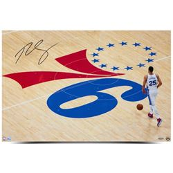"Ben Simmons Signed 76ers ""One Step At A Time"" 20x30 Photo (UDA COA)"