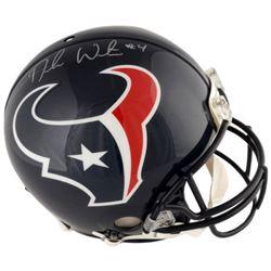 Deshaun Watson Signed Texans Full-Size Authentic On-Field Helmet (Fanatics Hologram)