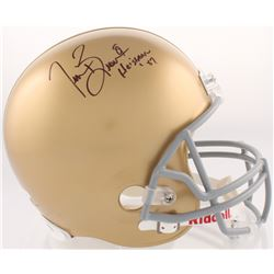 "Tim Brown Signed Notre Dame Fighting Irish Full-Size Helmet Inscribed ""Heisman '87"" (JSA COA  Brown"