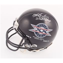 "Mike Singletary Signed Bears Super Bowl XX Logo Mini Helmet Inscribed ""SB XX Champs"" (Schwartz COA)"