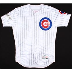 Jason Heyward Game-Used Cubs Jersey with 2017 Postseason Patch (MLB Authentication)