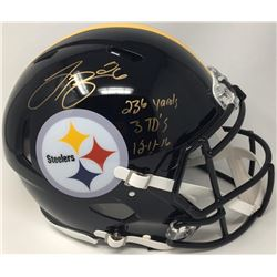 """Le'Veon Bell Signed LE Steelers Full-Size Authentic On-Field Speed Helmet Inscribed """"236 Yards 3 TD'"""