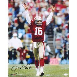 Joe Montana Signed 49ers 16x20 Photo (JSA COA)