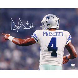 Dak Prescott Signed Cowboys 16x20 Photo (JSA COA  Prescott Hologram)