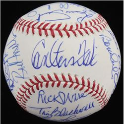 1975 Red Sox OML Baseball Team-Signed by (23) with Carlton Fisk, Jim Rice, Stan Williams, Steve Dill