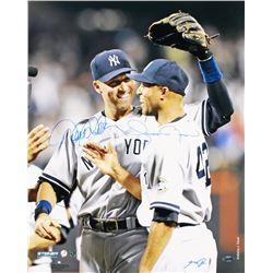 Derek Jeter  Mariano Rivera Signed Yankees 16x20 Photo (Steiner COA)