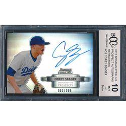 2012 Bowman Sterling Prospect Autographs #CS Corey Seager (BCCG 10)