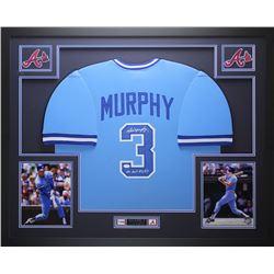 "Dale Murphy Signed Braves 35"" x 43"" Custom Framed Jersey Inscribed ""NL MVP 82, 83"" (JSA COA)"