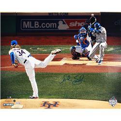 Noah Syndergaard Signed Mets 16x20 Photo (Steiner COA  MLB Hologram)