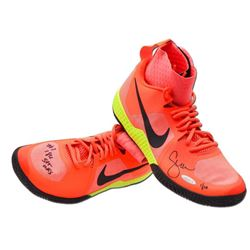 """Serena Williams Signed Pair of (2) LE Pink Nike Flare Shoes Inscribed """"#1 186 st wks"""" (UDA COA)"""