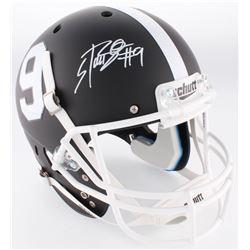 Bo Scarbrough Signed Alabama Crimson Tide Full-Size Custom Matte Black Helmet (Radtke COA)