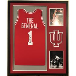 "Bob Knight Signed Indiana Hoosiers ""The General"" 34x42 Custom Framed Jersey Display (JSA COA)"