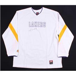 Kobe Bryant Signed Lakers Warm-Up Shirt (Beckett Hologram)