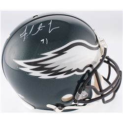 Fletcher Cox Signed Eagles Full-Size Authentic On-Field Helmet (Fanatics Hologram)