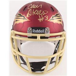 Cam Akers Signed Florida State Seminoles Mini Speed Helmet (PSA COA)