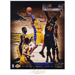 "Kobe Bryant Signed Lakers 16x20 LE Photo Inscribed ""60 Pts"" (Panini COA)"