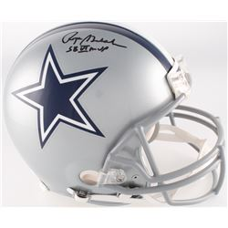 "Roger Staubach Signed Cowboys Full-Size Authentic Pro-Line Helmet Inscribed ""SB VI MVP"" (JSA COA)"