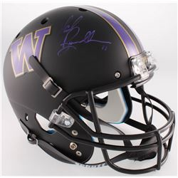 Mark Brunell Signed Washington Huskies Full-Size Custom Matte Black Helmet (Radtke COA)