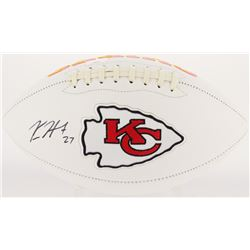 Kareem Hunt Signed Chiefs Logo Football (Radtke Hologram)