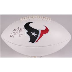 Andre Johnson Signed Texans Logo Football (JSA COA)