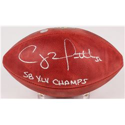 """Clay Matthews III Signed Official NFL Game Ball Inscribed """"SB XLV Champs"""" (Mathews Hologram)"""
