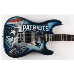 """Tom Brady Signed Patriots Limited Edition Electric Guitar Inscribed """"5x SB Champ"""" (Steiner COA)"""