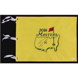 Danny Willett Signed 2016 Masters Tournament Pin Flag (JSA COA)