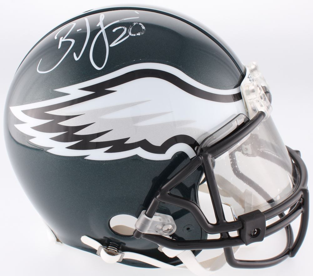 0e02a24d4b4 Image 1 : Brian Dawkins Signed Eagles Full-Size Authentic On-Field Helmet  With